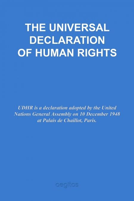 THE UNIVERSAL DECLARATION OF HUMAN RIGHTS  - обложка